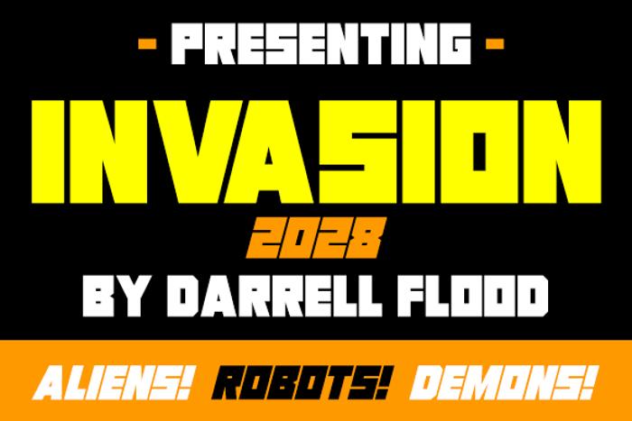 Invasion 2028 Font poster