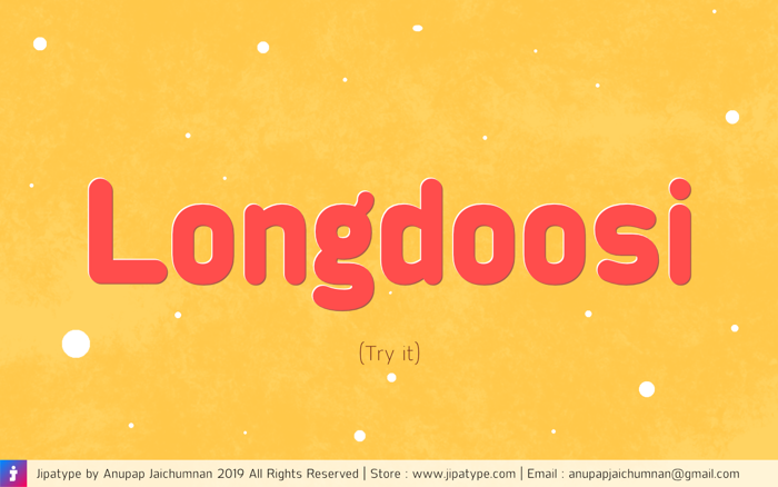 Longdoosi Font poster
