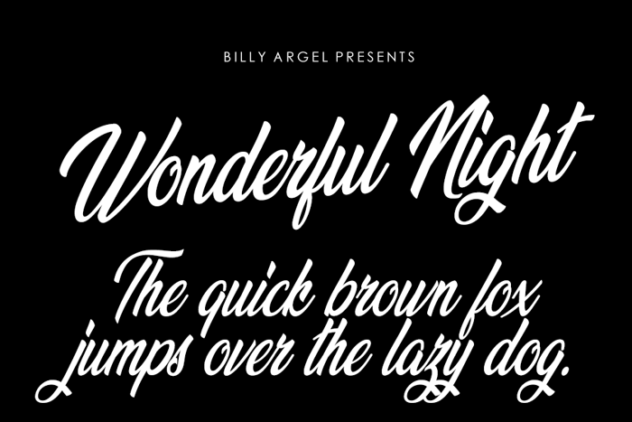 Wonderful Night Font poster