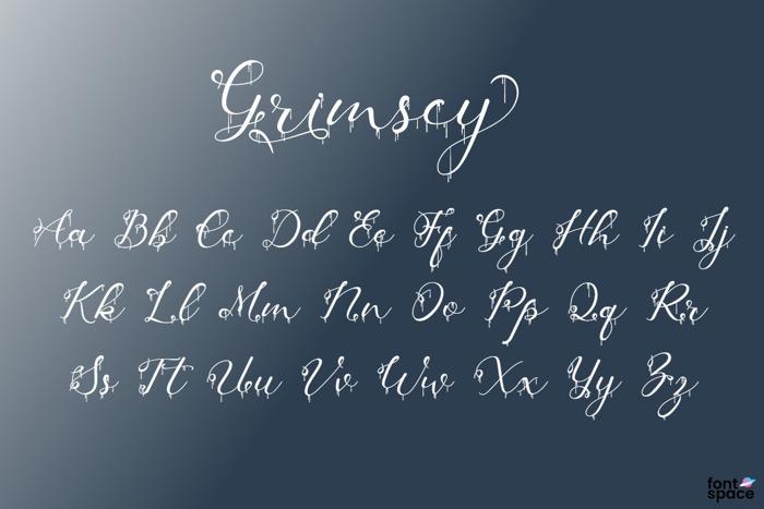 Grimscy Font poster