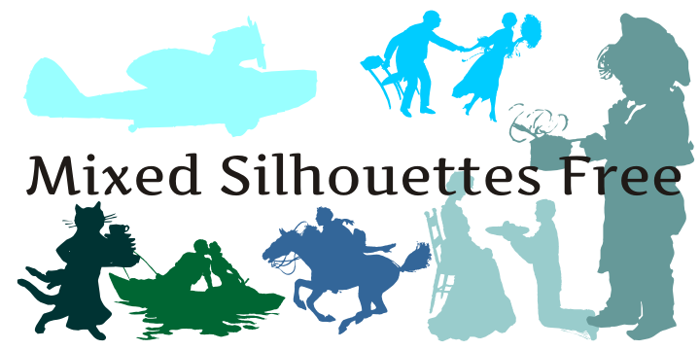 Mixed Silhouettes Free Font poster
