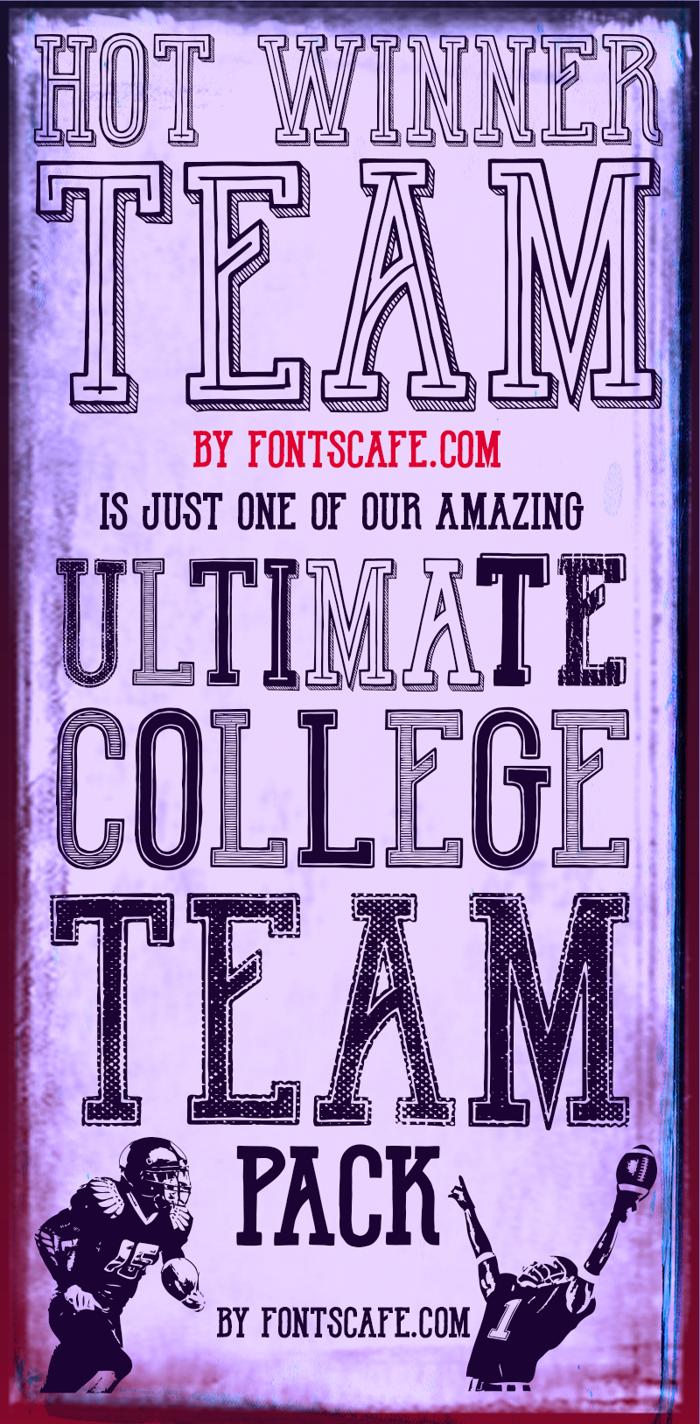 Hot Winner Team DEMO Font poster