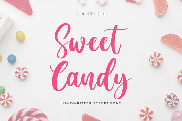 Sweet Candy Font poster