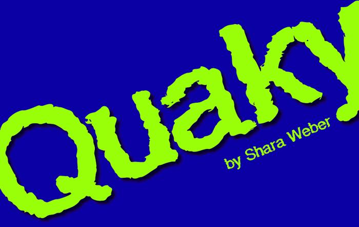 Quaky Font poster