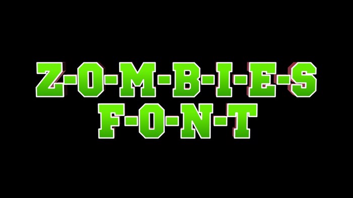 ZOMBIES Font poster