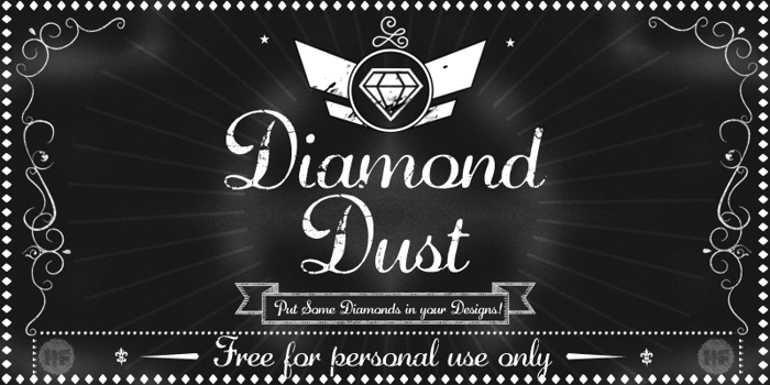 Diamond Dust Font poster