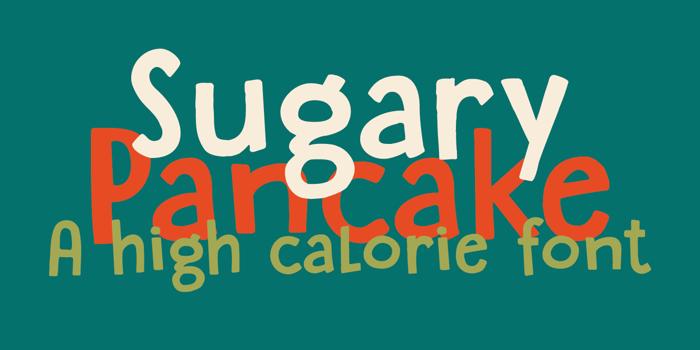 DK Sugary Pancake Font poster