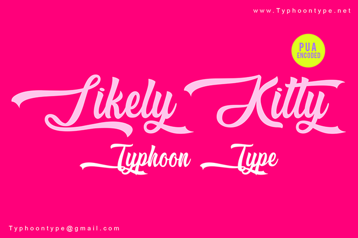 Likely Kitty Font poster