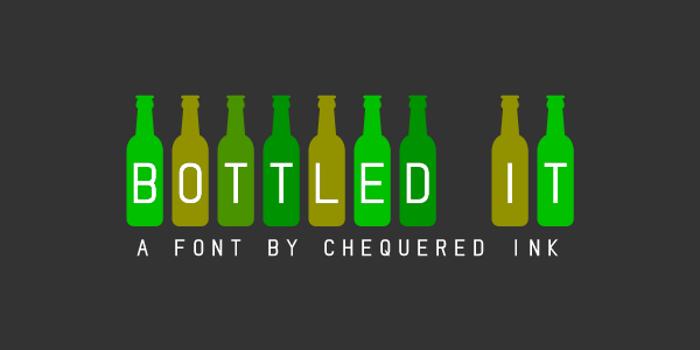 Bottled It Font poster
