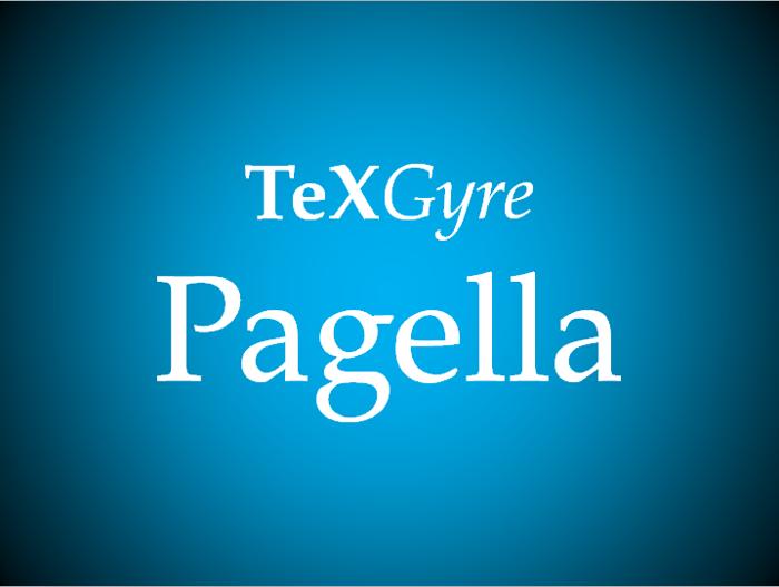 TeXGyrePagella Font poster
