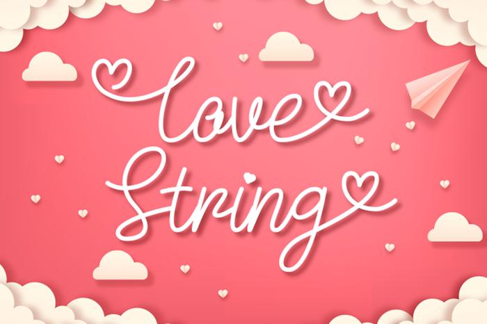 Love String Font poster