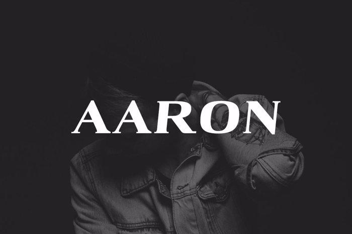 Aaron Black Font poster