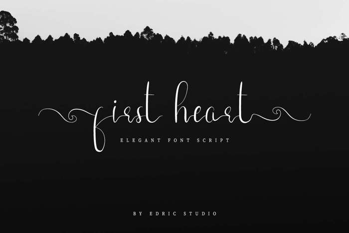 First Heart Font poster
