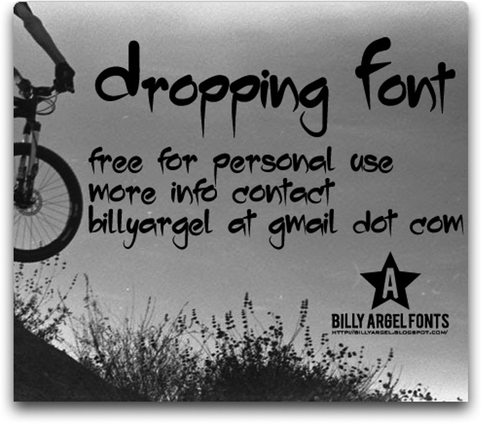 Dropping Font poster