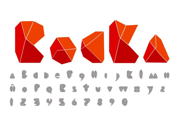 ROCKA Font poster