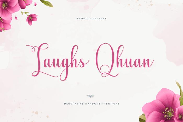 Laughs Qhuan Font poster