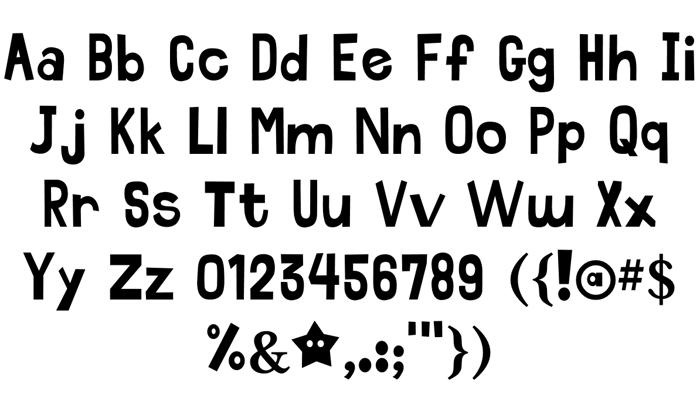 Acid Beans Font poster