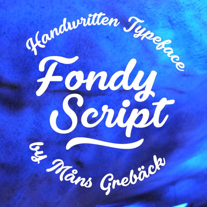 Fondy Script Font poster