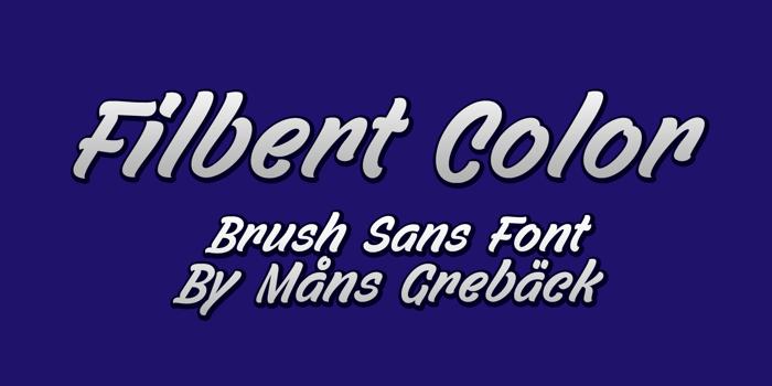 Filbert Color Font poster