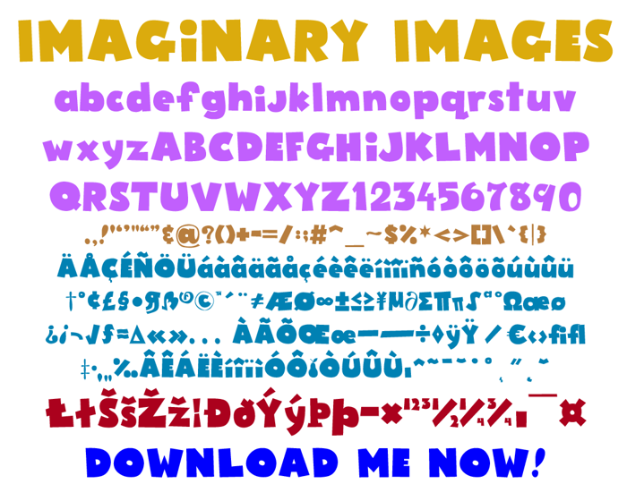 Imaginary Images Font poster