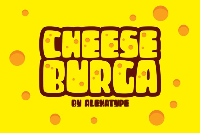 CHEESEBURGA Font poster