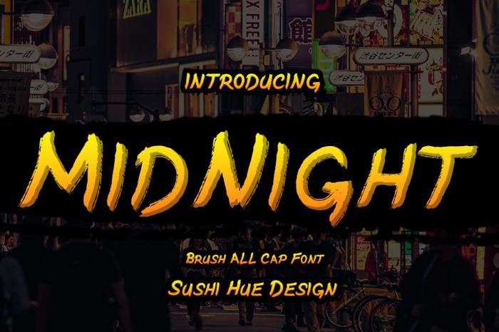 MidNight Font poster