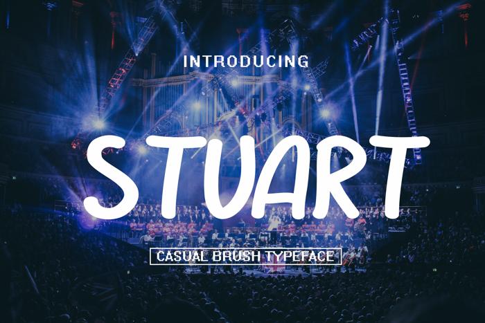 STUART Font poster