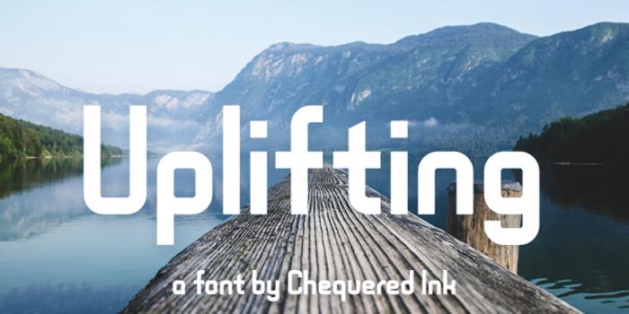 Uplifting Font poster