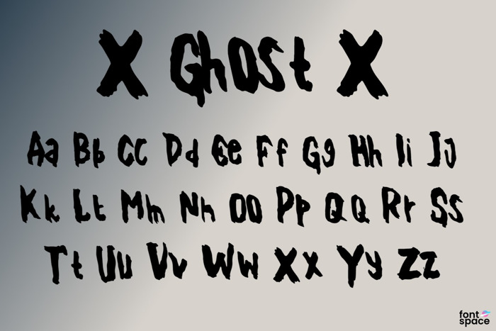 X Ghost X Font poster
