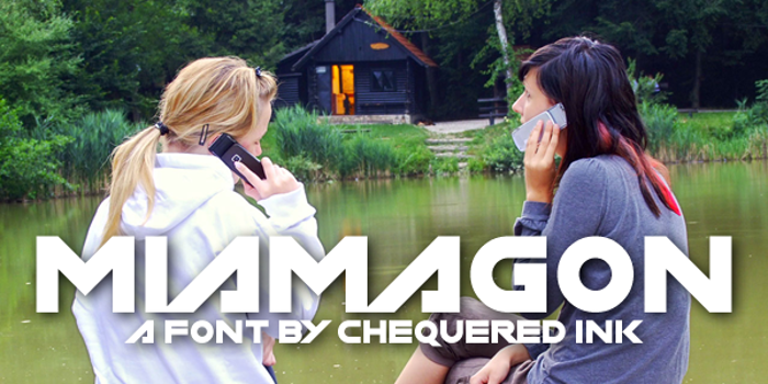 Miamagon Font poster