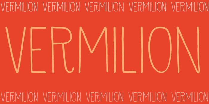 DK Vermilion Font poster