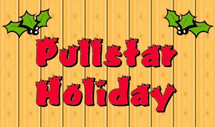 Pullstar Font poster