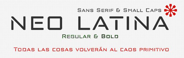 neo latina Font poster