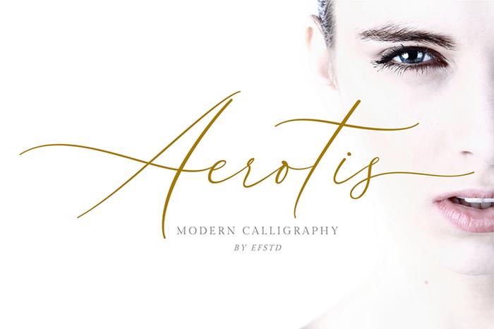 Aerotis Font poster