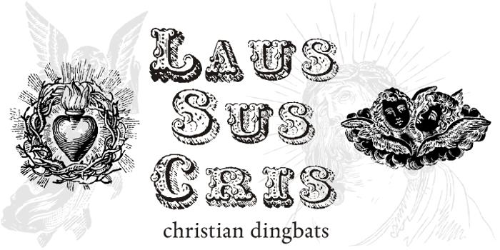 Laus Sus Cris Font poster