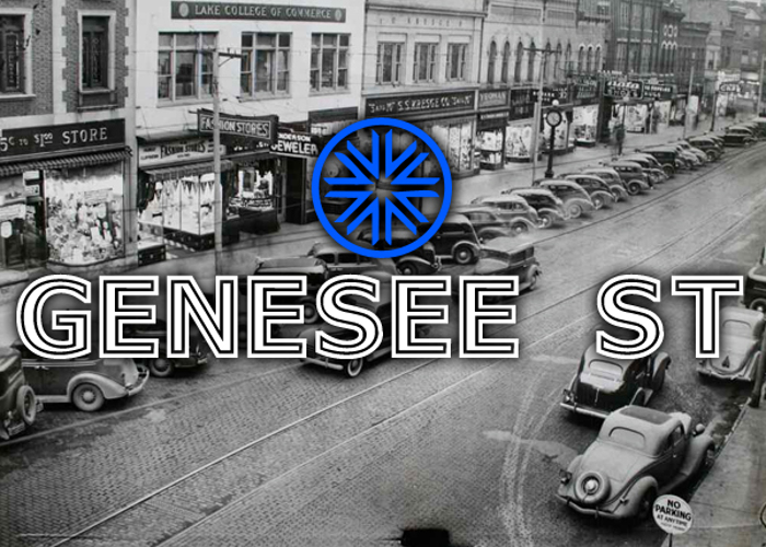 Genesee St Font poster