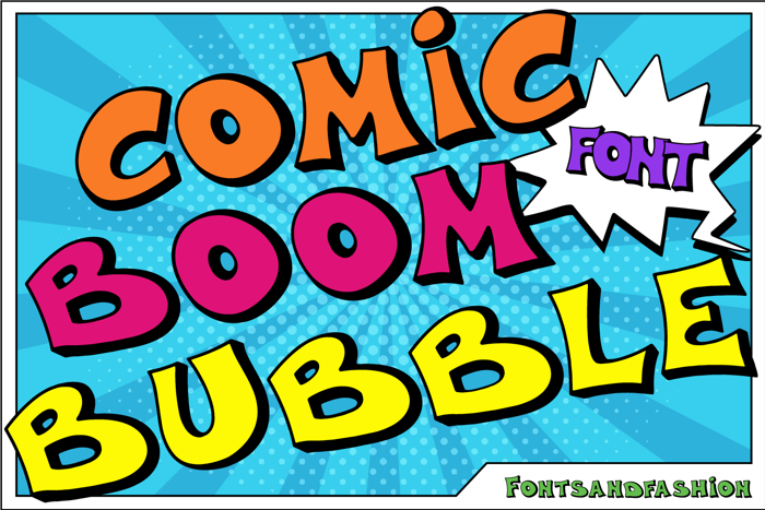 Comic Boom Bubble Font poster