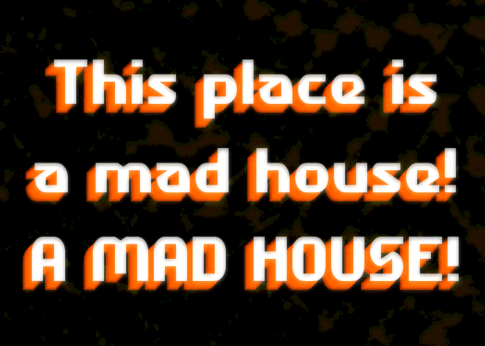 Madhouse Font poster