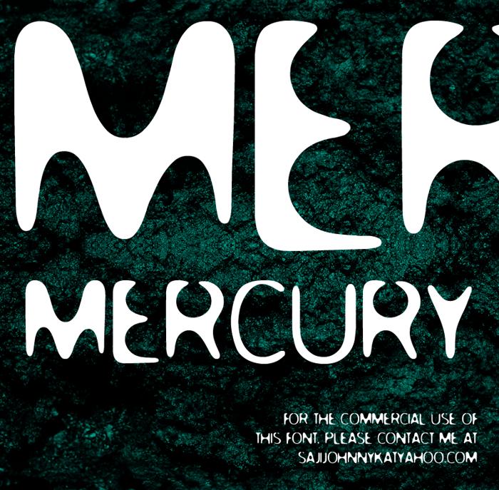 MERCURY Font poster