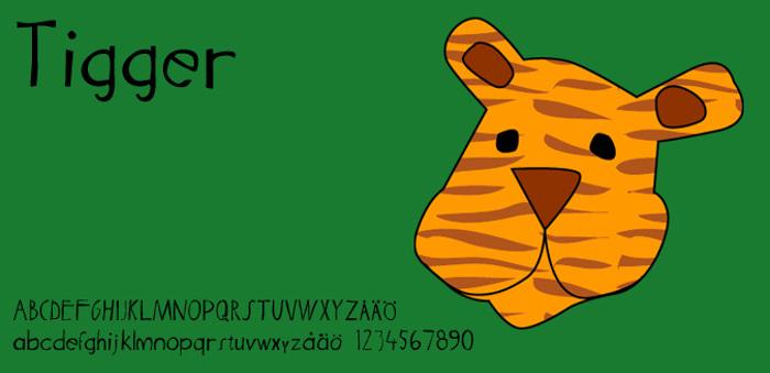 Tigger Font poster