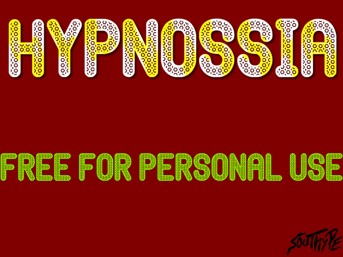 Hypnossia St Font poster