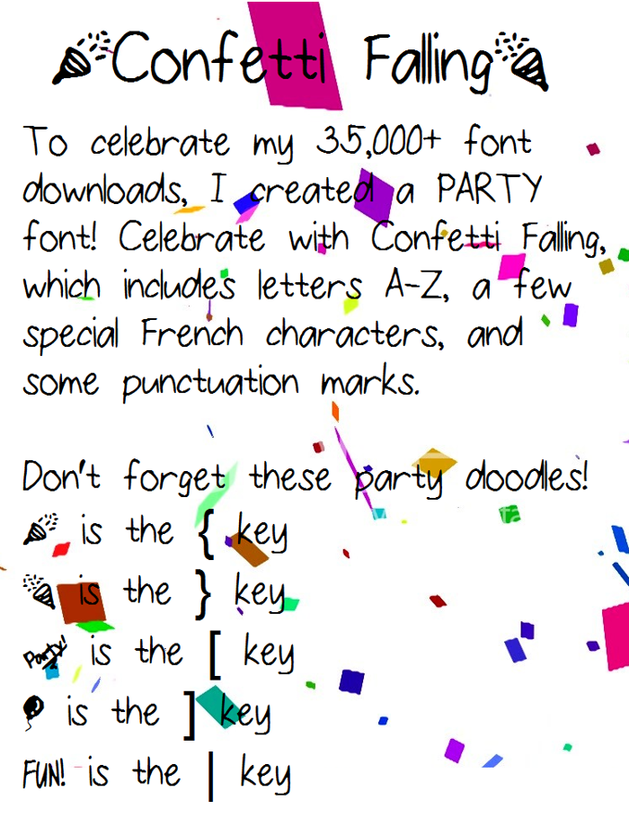 ConfettiFalling Font poster