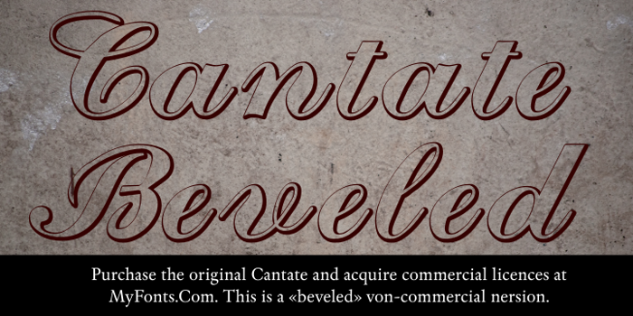 Cantate Beveled Font poster