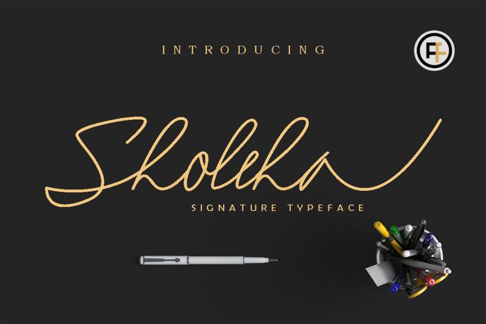 Sholeha Font poster