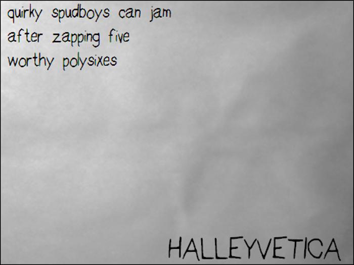 HalleyveticaNBP Font poster