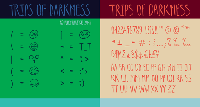 Trips of Darkness Demo Font poster