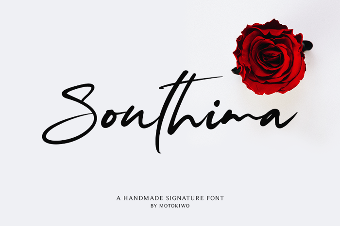 Southima Font poster