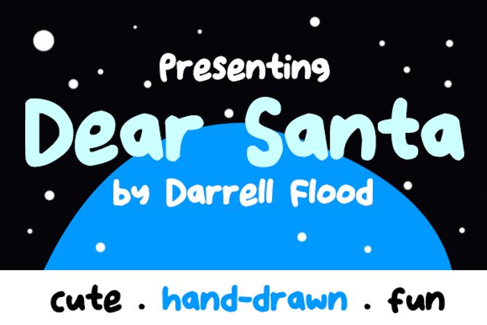 Dear Santa Font poster