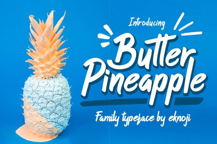 Butter Pineapple Font poster