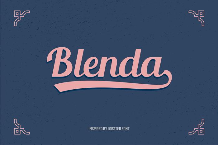 Blenda Script poster